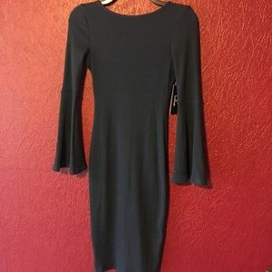 NWT!! Lulu's Bell Sleeve Sweater Midi Dress Sz S